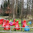 Art Installation at Ten Duinen Abbey Koksijde with Sealions, Rabbits and a Monk...
